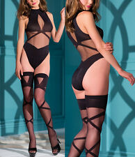 HOT Babydoll Sexy silk Lingerie Underwear BodyStocking Striptease Teddy+stocking