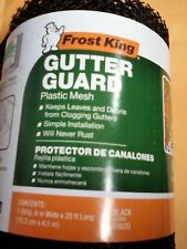Frost King Gutter Guard 6 inch by 20 ft  Black  Plastic Keep leaves, debris out