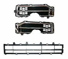 Chrome Front bumper Fog grill & Center Bumper Grill 3p For 06 11 Chevy Captiva