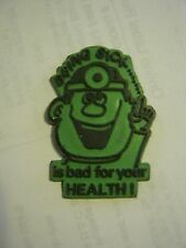 "Green ""Being Sick Is Bad For Your Health"" Refrigerator Magnet (002-9)"