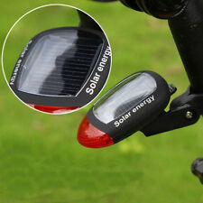 Newly Bike Bicycle Solar Energy Power Rear Tail Light Red 2 LED Rechargeable