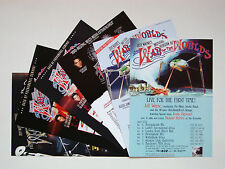 Jeff Wayne's War Of The Worlds - set of 6 UK A5 tour flyers...ideal for framing!
