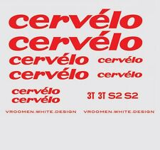 Cervelo S2 Bicycle Decals, Transfers, Stickers: Red n.6