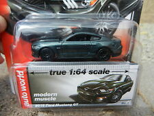 2016 AUTO WORLD 1:64 *PREMIUM 4A* Green 2015 Ford Mustang GT *NIP!*