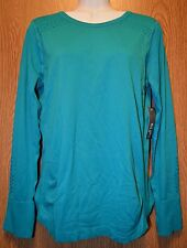 Womens Teal Green Energy Zone Nylong Long Sleeve Shirt Size Small NWT NEW