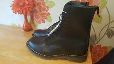 DR MARTENS By Solovair 80's Vintage Black Leather 11 Eyelet Mens Boots Size 14