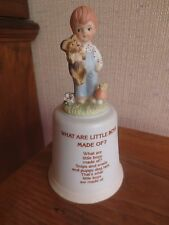 "Enesco BOY BELL Figurine WHAT ARE LITTLE BOYS MADE OF? w/Box--6.5""--no Striker"