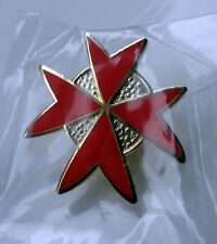 ZP381 Freemason Order of Malta Red Cross Pin Badge Knights Templar