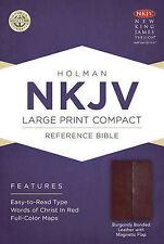 Large Print Compact Reference Bible-NKJV-Magnetic Flap by Broadman & Holman...