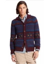 NEW TOMMY HILFIGER FAIRISLE BUTTON FRONT CARDIGAN MEN'S SWEATER JACKET SZ/ M