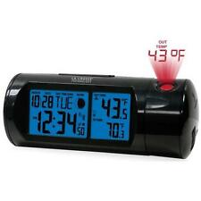 La Crosse Technology 616-143 Projection Alarm Clock with Backlight with In/Out