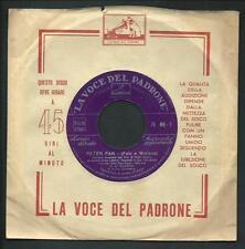 """Luci della Ribalta / Peter Pan - vinile 45 giri / 7"""" - La Voce del Padrone 1953"""