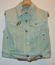 John Galliano Denim Vest Sleeveless Jacket  w belt SZ EU 40 NEW