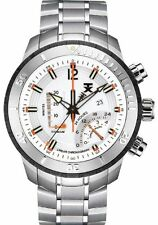 TX Men's T3C305 800 Series Linear Chronograph Dual-Time Zone Watch NEW