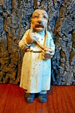 """Vintage look Doctor Figurine-Stethascope &Thoughtful Finger to Cheek-4.5"""" tall"""