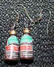 BARBECUE SAUCE EARRINGS-Open Pit BBQ Grill Cookout Novelty Food Funky Jewelry