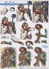 Feuille 3D à découper A4 Musique Jazz 777.052 Decoupage Music