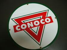 CONOCO Oil Gas Porcelain Advertising sign