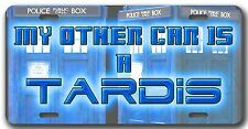 L@@K! My other Car is a Tardis License Plate - Car Vanity Tag  Dr Who The Doctor