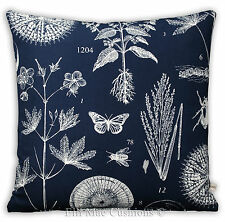 Ikea Blavinge Nature Blue White Fabric Cushion Pillow Cover