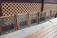 SET OF SIX SIX ANTIQUE STAINED GLASS CHICAGO BUNGALOW WINDOWS NEED SOME REPAIR