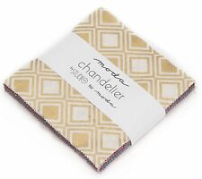 "Chandelier Metallic Moda Charm Pack 100% Cotton 5"" Precut Fabric Quilt Squares"