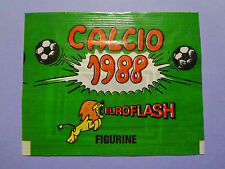 BUSTINA FIGURINE STICKERS CALCIO FLASH 88 1988 PIENA FULL NEW- FIO