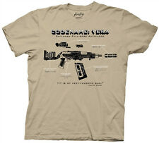 Firefly / Serenity Code Name Vera Gun Diagram Beige Adult T-Shirt, NEW UNWORN