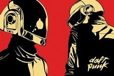 DAFT PUNK 24X36 POSTER MUSIC ELECTRONIC POP WALL ART DECOR FRENCH HELMETS ICONS!