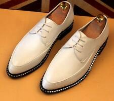 Mens Punk Dress Casual Work Pointy Toe Wedding Business formal shoes Size Plus