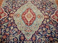 10X13 1940s GORGEOUS AUTHENTIC HAND KNOTTED 70+YRS ANTQ WOOL KASHMAR PERSIAN RUG