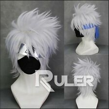 HOT Corto a Strati Hatake Kakashi. BIANCO Anime Cosplay Parrucca MEN'S Wigs cos-201a