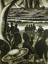 Lynd Ward 1930 KIDNAPPING AFRICAN SLAVES SLAVE TRADER SLAVERY Deco Print Matted
