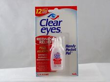 CLEAR EYES * Handy Pocket Pal * 0.2oz 12 Hour Redness RELIEF!
