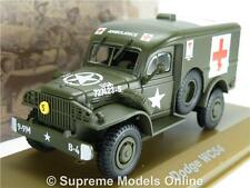 DODGE WC54 ARMY AMBULANCE MILITARY MODEL TRUCK LORRY 1:43 SIZE USA GREEN T34Z