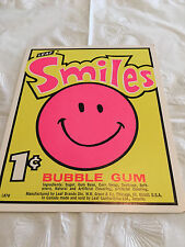 Gumball Machine Display Card #85 Smiles Bubble Gum - 1 Cent