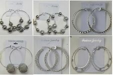 Fashion Jewelry lots 6 pairs Hoop Silver earring  wholesale lot #54