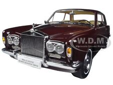 1968 ROLLS ROYCE SILVER SHADOW BURGUNDY 1/18 DIECAST MODEL CAR BY PARAGON 98204