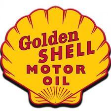 Gas Station Golden Shell Motor Oil Gasoline Metal Sign Man Cave Garage Barn 041