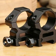 "2 x 21mm Medium Profile Picatinny Weaver Rifle Scope Mounts 25.4mm 1"" Inch Ring"