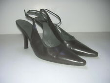 JIL SANDER  LEATHER MARY JANE STYLE  HEELS SHOES  SZ EU 39 1/2 40/ US 9 1/2 10