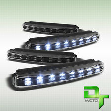 6000K Hyper White Led 12V DRL Daytime Running Head Bumper Fog Lights Black 4Pcs