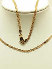 18K Solid Rose Gold Woven Necklace / Chain 3.97 Grams