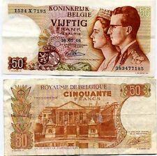 Belgique  - Belgium billet d'occasion de 50 francs pick 139 ayant circulé