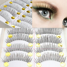 New 10 Pairs Makeup Handmade Pretty Long Cross False Eyelashes Eye Lashes