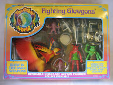 vintage Arco OTHER WORLD figure set FIGHTING GLOWGONS complete in BOX playset !!