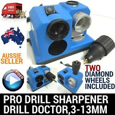 W/2XWHEELS ELECTRIC PRO DRILL BIT SHARPENER SHARPENING TOOL DOCTOR GRINDER 3-13M