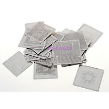 33pcs Directly Heat BGA Reballing Stencil Template Rework for Notebook Version A