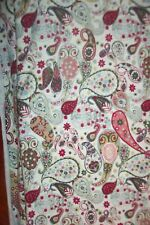 Liberty 100 %cotton elastic jersey vintage design whithe green paisley l50 width