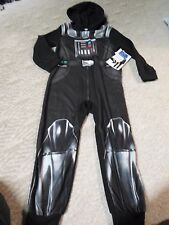 Boy's Star Wars Darth Vader Footed One Piece Pajamas Footed Sleeper Cape Size 6
